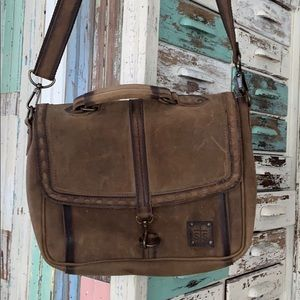 Sts all leather messenger bag